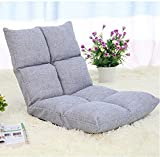 Haobase Cushioned Floor Gaming Sofa Chair Folding Adjustable(Gray Color)