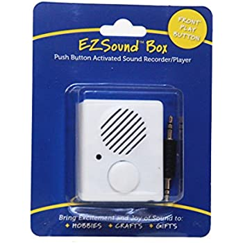 EZSound Box - Front Play Button for Personal Messages, Favorite Tunes, Stuffed Toys, Science Projects, Hobbies, Craft Projects, Talking Displays, ...