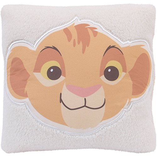 [New Disney Lion King Decorative Accent Plush Pillow for Nursery Room Decor] (Home Made Angel Costumes Kids)