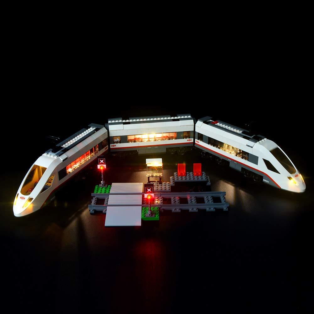 Compatibile con il Modello Lego 60051 Mattoncini da Costruzioni Non Include il Set Lego Briksmax Treno Passeggeri Alta Velocit/à Kit di Illuminazione a Led