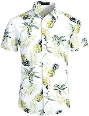 LFNANYI Hombres Camisa Casual de Verano Nueva Impresión de Piña Camisa Hawaiana Hombres Fiesta de Vacaciones Tops Camisas Ropa de Hombre: Amazon.es: Deportes y aire libre
