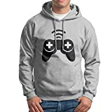 Shuiquwe Game Controllers Men's Sports Hoodies M Ash