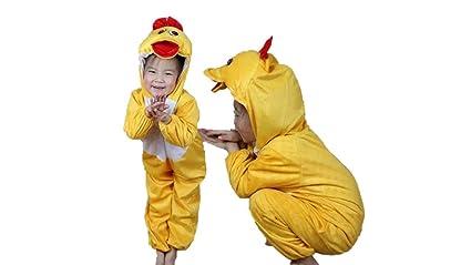 Niños Disfraces de Animales Niños Niñas Unisex Disfraces Cosplay Niños Onesie (Pato, M (para niños de 90 a 105 cm de Altura))