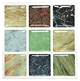 Besttile Peel And Stick Adhesive Wall Tile For Kitchen Backsplashes, Bathroom Walls, Spa Tile, Pool Tile - Decorative Tiles Made from Natural Granite Stone(10 PCS [4'' X 4''/each])