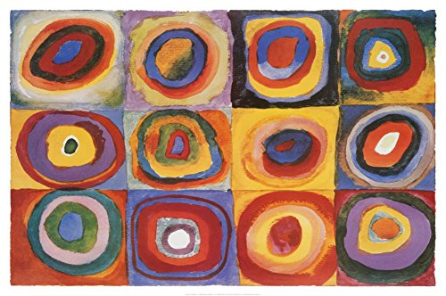 Farbstudie Quadrate, c.1913 Poster by Wassily Kandinsky 36 x