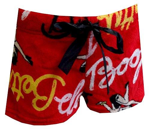 ignature Red Plush Sleep Shorts (Large) ()