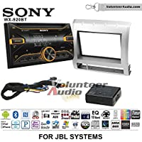 Volunteer Audio Sony WX-920BT Double Din Radio Install Kit with Bluetooth, Pandora, and SiriusXM Ready For 2005-2011 Toyota Tacoma with Amplified System (Silver)