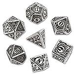 Q WORKSHOP Metal Steampunk Dice Set 7 Polyhedral Pieces 4