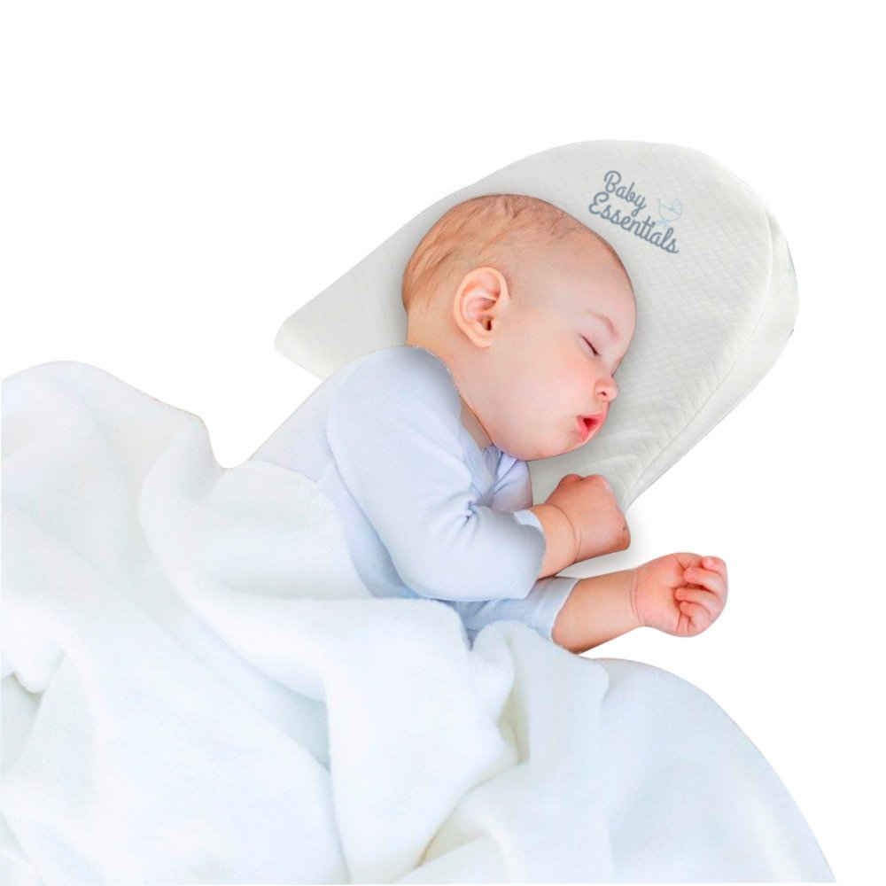 Baby Essentials Universal Bassinet Wedge | Waterproof Layer & Handcrafted Cotton Removable Cover | 12-degree Incline for Better Night's Sleep