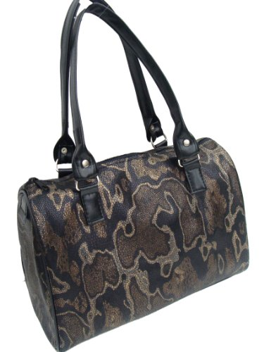 Us Handmade Fashion Animal Print Snake Pattern Doctor Bag Satchel Style Handmade Purse Drb 3066 Drb-3066
