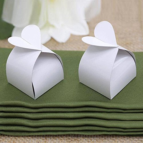 BalsaCircle 100 Wedding Favor Boxes with Cute Heart Shape...