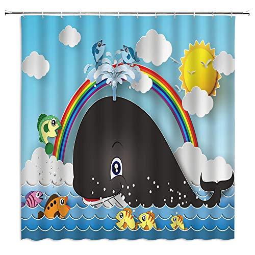 rainbow fish shower curtain - 2