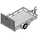 utility trailer 5x8 - Utility Trailer Plans Blueprints (8' x 5' - Model T1108)