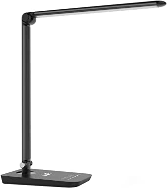 Lepro Led Desk Lamp With Usb Charging Port 3 Colour Modes X 7 Brightness Levels Timer Dimmable Touch Control Eye Caring Table Lamps For Office Nail Crafts School Reading Working And More Amazon Co Uk