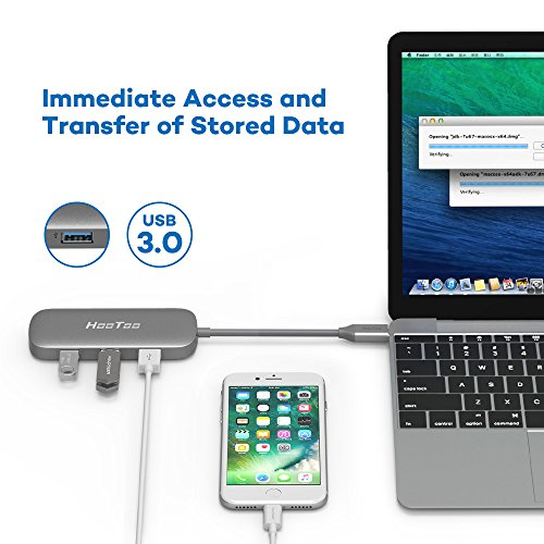 HooToo USB C Hub With Ethernet, HDMI, 100W Power Delivery ...