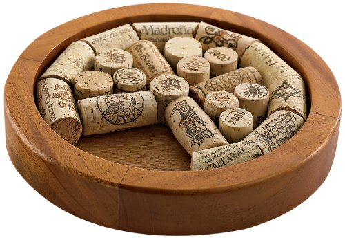 Wine Enthusiast Round Cork Trivet