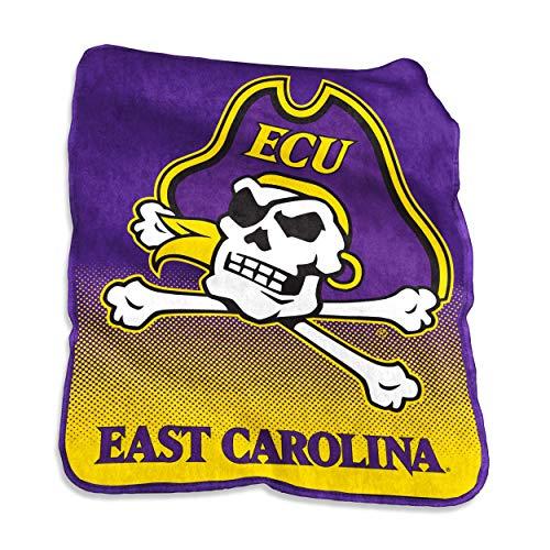 Pirates Fleece Throw - Logo Brands NCAA East Carolina Pirates Unisex Raschel Throwraschel Throw, Purple, N/A