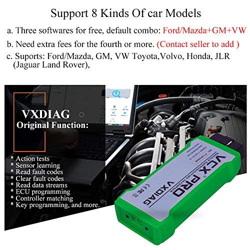 VXDIAG VCX PRO-PU810 Nano PRO 3in1 Auto Diagnosis Scan Tool Car Engine Code  Reader Scanner for Ford for Mazda for GM for VW for Toyota for Volvo for