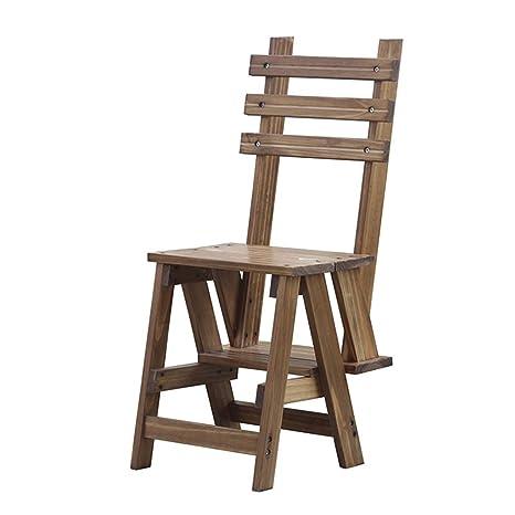 Estante plegable de la escalera Taburete de madera para ...