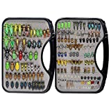YZD Trout Fly Fishing Flies Collection 194/118/69 Premium Flies Dry Wet Nymph Streamers Fly Assortment with Fly Box Flyfishing Flys Lures Kits