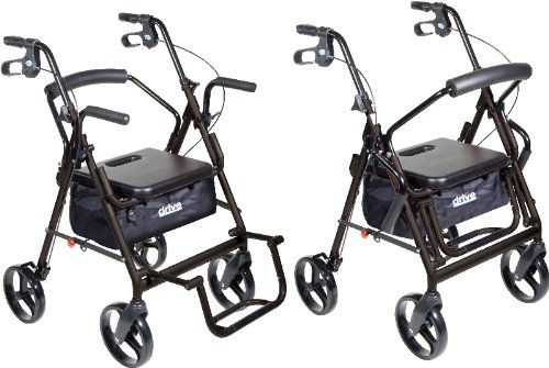 (Duet Black Transport Wheelchair Rollator Walker *** Product Description: Duet Black Transport Wheelchair Rollator Walkerthe Duet Transport Chair/Rollator By Drive Medical Comes In An Attractive Black Finish And Combines The Features Of A Rollator ***)