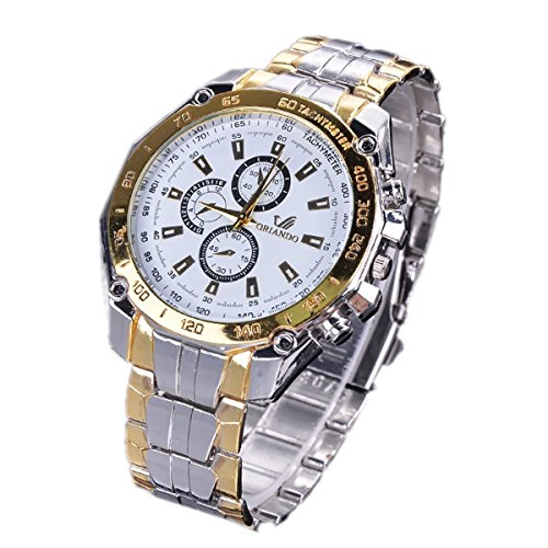 Xixou Mens Watches Chronograph Analog Quartz Clock Stainless Steel Mesh Band Simple Waterproof Thin Dial Calendar Skone Watch