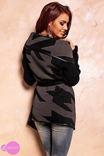 Lsecret  - Abrigo - capa - para mujer negro