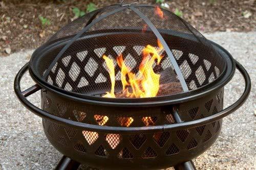 Fire Pits Serenelife Endless Summer, WAD792SP, Bronze Crossweave Firebowl Fire Pit Outdoor Firepit firepits