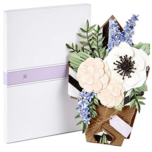 Hallmark Signature Paper Craft Flowers Displayable Bouquet Mothers Day Card (Every Beautiful Thing)