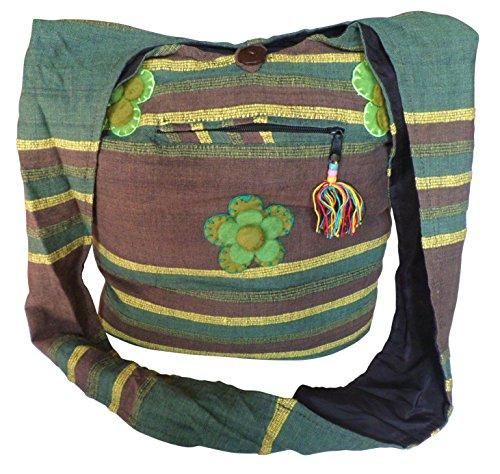 NATURAL FLOW - Bolso al hombro para mujer verde Green & Yellow