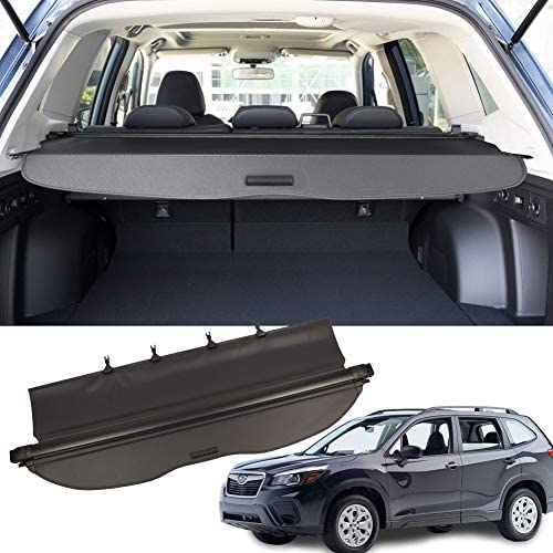 MarretooAuto No Gap Anti-Theft Trunk Cover Compatible with Black Retractable 2019 2020 Subaru Forester Cargo