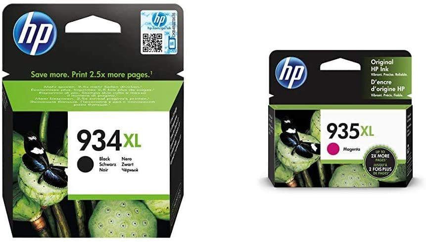 HP 934XL | Ink Cartridge | Black | C2P23AN & 935XL | Ink Cartridge | Magenta | C2P25AN