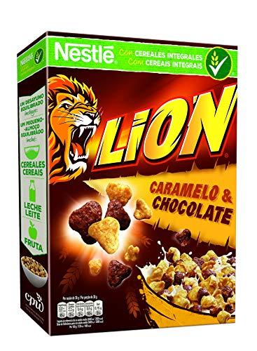 Cereales Nestlé Lion - Cereales de trigo y arroz tostados con crema de caramelo y chocolate - 16 paquetes de 400g: Amazon.es: Alimentación y bebidas