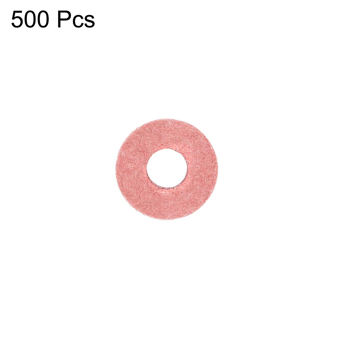 uxcell Insulating Washer Insulation Gasket for Motherboard 500Pcs 6mm x 12mm x 1mm Red Vulcanized Fiber Washer