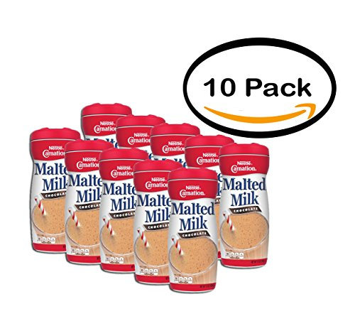 - PACK OF 10 - Carnation Malted Milk Chocolate, 13 Oz