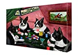 Home of Boston Terrier Dogs Playing Poker Canvas Gallery Wrap 1.5'' Inch (20x30)