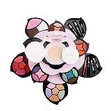 Eyeshadow Blusher Foundation Concealer Lip Gloss Makeup Palette Cosmetic Rotation Rose Flower Design For Women Best Gift (Pink 2(05#))