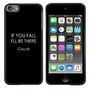 Si te caes- Metal de aluminio y de plástico duro Caja del teléfono - Negro - iPod Touch 6