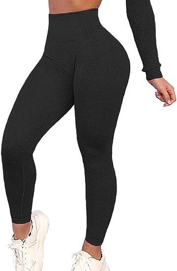 Womens Sports Compression Leggings Seamless High Waist Yoga Pants Gym Fitness