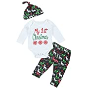 Xuuly Baby Boys Girls Spring Summer Rompers Deer Print Outfits Clothes Set(0-6 Months)
