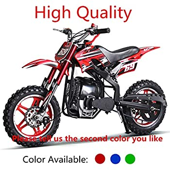 SYX MOTO Kids Dirt Bike Holeshot-X 50cc Gas Power Mini Dirt Bike 20inches Seat Height Dirt Off Road Motorcycle Blue Pit Bike Fully Automatic Transmission