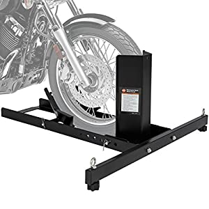 Best Choice Products SKY2725 Adjustable Motorcycle Stand Wheel Chock (Upright 1800lbs Capacity)