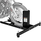 Best Choice Products Adjustable Motorcycle Stand Wheel Chock Upright w/ 1800lb Capacity - Black