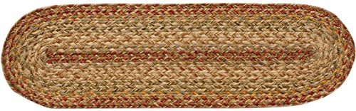 Homespice Decor Harvest Braided Stair Treads – Oval – 8 x 28 Set of 13