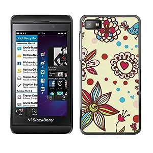 For Blackberry Z10 Case , Petal Bloom Hearts Valentines - Diseño Patrón Teléfono Caso Cubierta Case Bumper Duro Protección Case Cover Funda