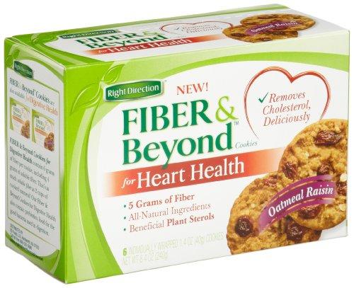 Fibre & Beyond Raisin Cookies à l'avoine pour la santé cardiovasculaire, 6-Comte, 6-Comte cookies (Pack de 4)