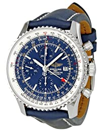 Breitling Men's A2432212/C651 Navitimer World Blue Chronograph Dial Watch