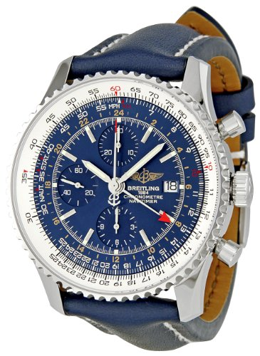 Breitling Slide Rule (Breitling Men's A2432212/C651 Navitimer World Blue Chronograph Dial Watch)