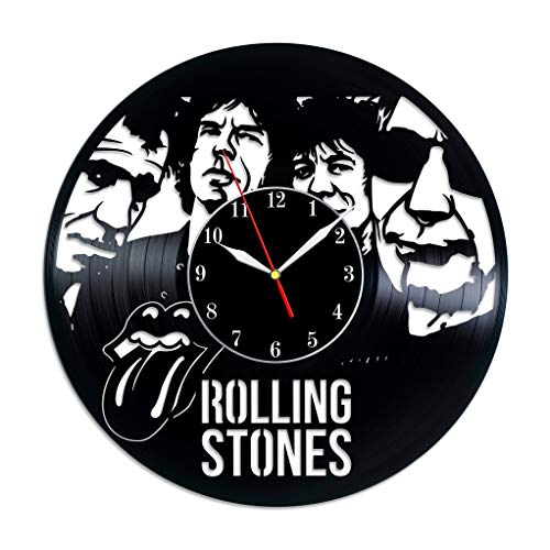 The Rolling Stones Vinyl Record Wall Clock, Rolling Stones Art, Mick Jagger, Rock Band, Music, Unique Ideas, Home Decor, Original Clock - Jagger Band Mick
