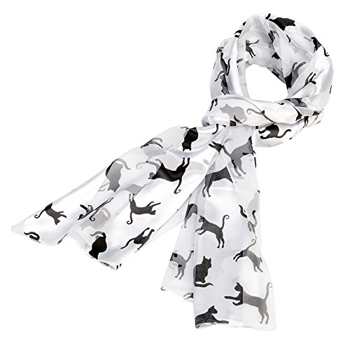Black and White Cat Scarf